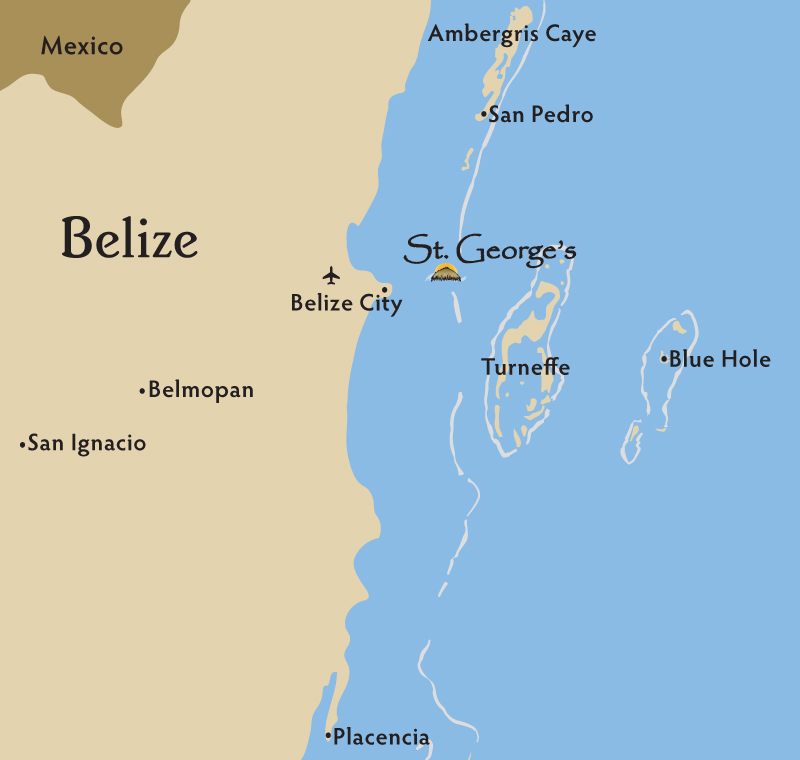 Location and weather storges caye resort belize location map closest island resort to belize city gumiabroncs Image collections