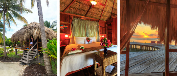 Group accommodations at St Georges Caye Resort photo collage