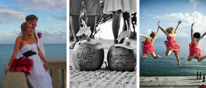 Weddings at St Georges Caye Resort photo collage