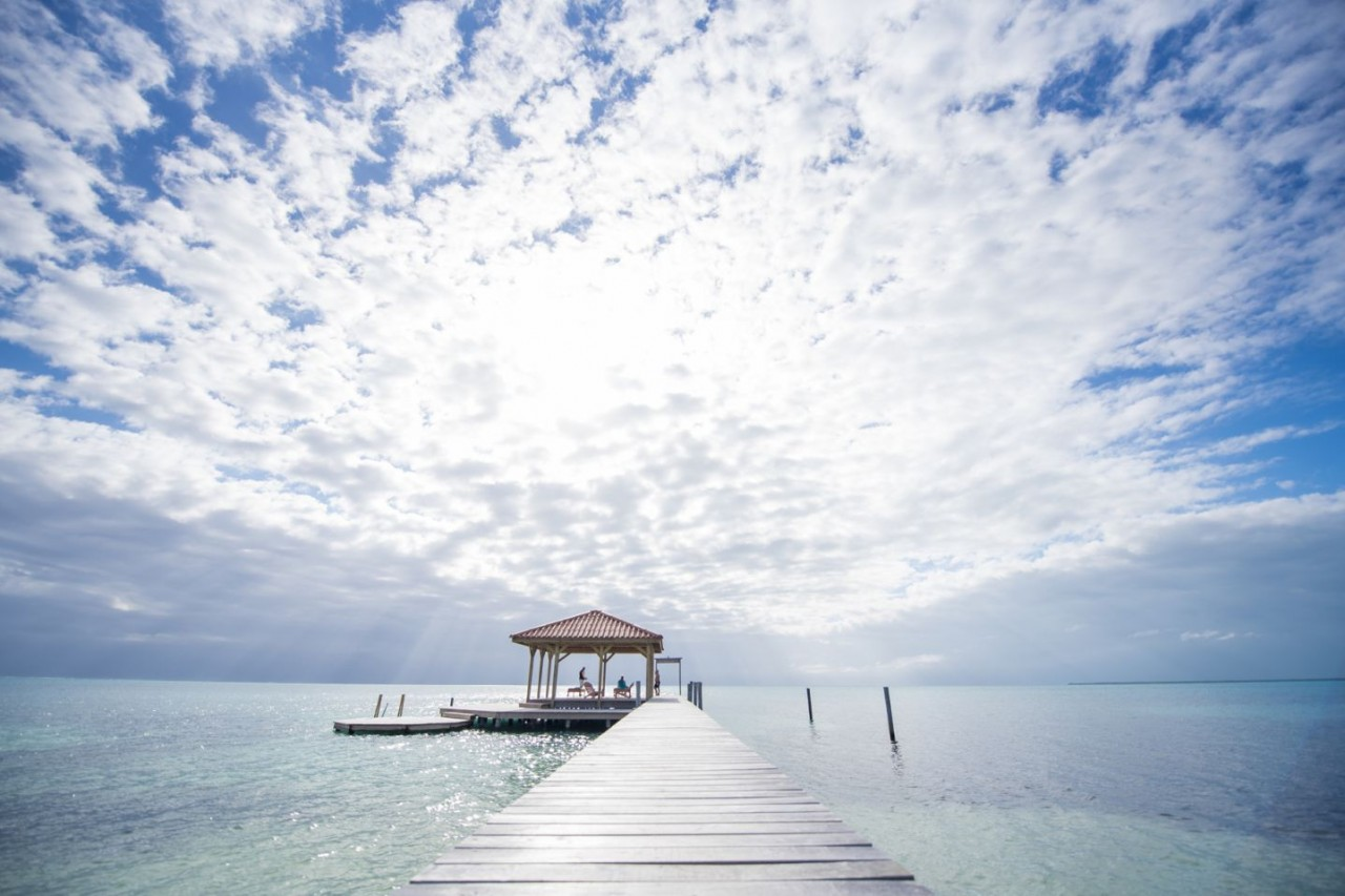 The sky over St. George's Caye Resort - Adventure, Jungle excursions from a secluded island paradise.